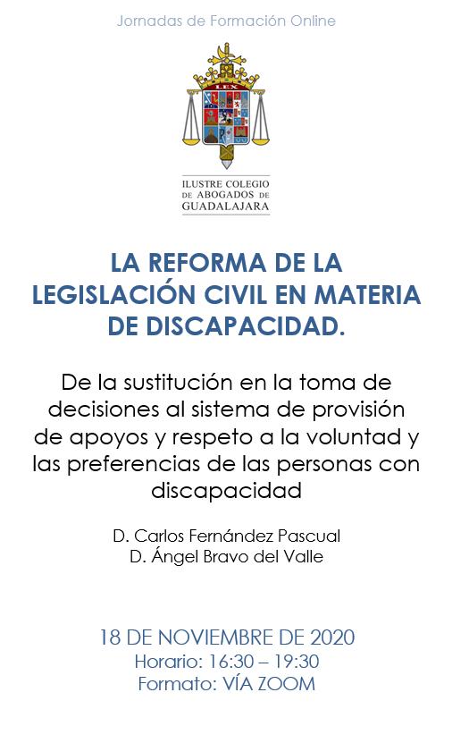 LA REFORMA DE LA LEGISLACIÓN CIVIL EN MATERIA DE DISCAPACIDAD.